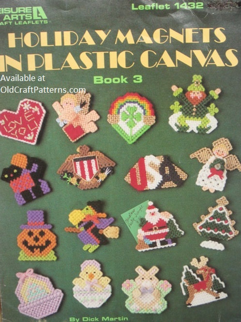 Leisure Arts 1432. Holiday Magnets - Plastic Canvas Patterns
