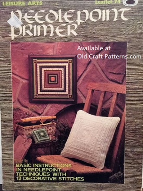 Leisure Arts 74. Needlepoint Primer - Instructions Techniques with Stitches