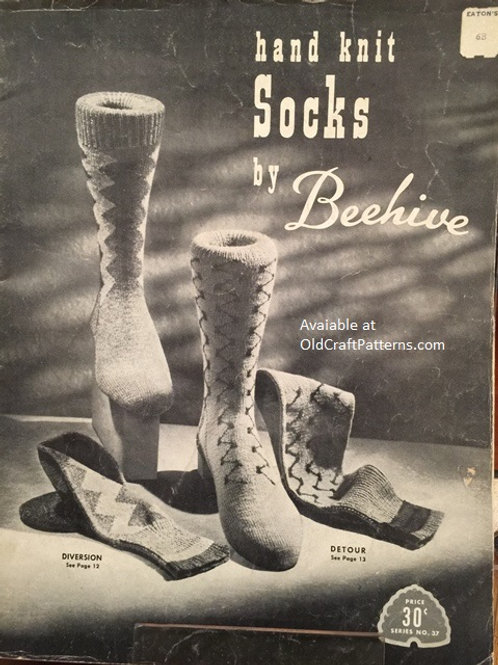Patons 37. Hand Knit Socks by Beehive - Knitting Patterns