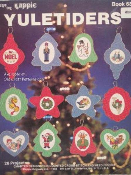 Kappie 68. Yuletiders - Santa Snowman Noel Joy Bells Dog Cross Stitch Patterns
