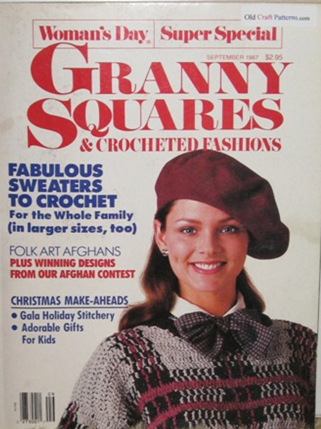 Womans Day Sept 1987 Granny Squares Crochet Patterns