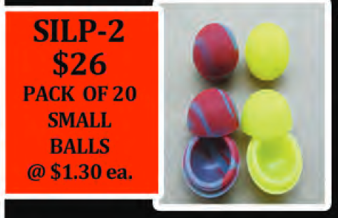 PACK OF 20 small SILICONE half balls
