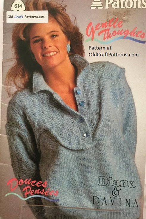 Patons 614. Gentle Thoughts - Diana Yarn Sweater Knitting Patterns
