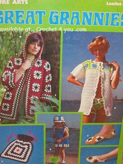Leisure Arts 60. Great Grannies Crochet Patterns