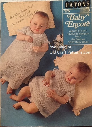 Patons 175 Baby Encore 20 Favourite Designs Crochet Knitting Patterns