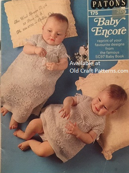 Patons 175. Baby Encore - 20 Favourite Designs Crochet Knitting Patterns