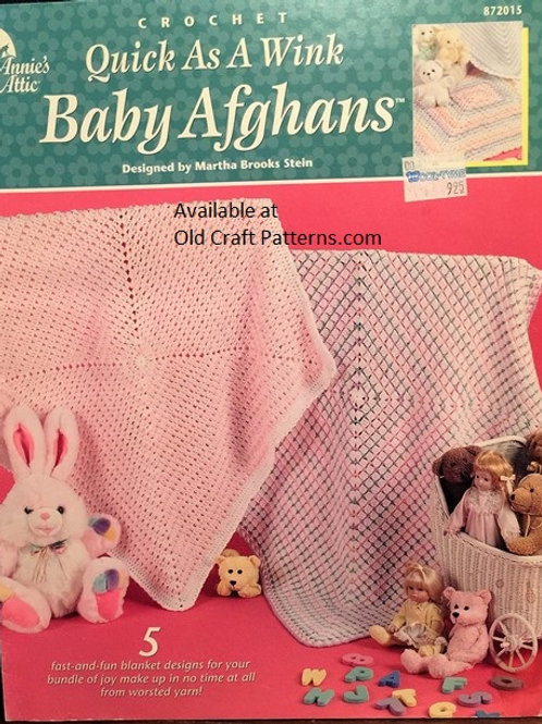 Annies Attic 872015. Quick Baby Afghans Crochet Patterns