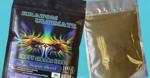 KRATOM ULTIMATE 5 STRAIN SUPER BLEND 200 gram