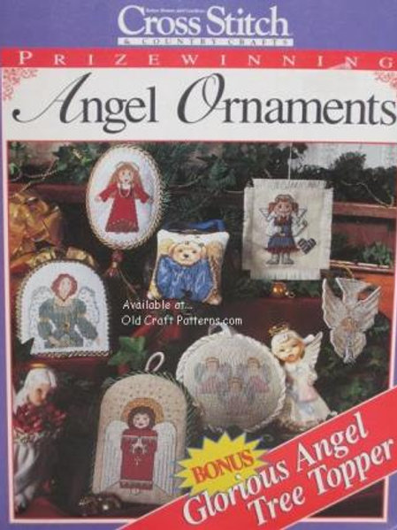 Angel Ornaments & Tree Topper Cross Stitch Charts Patterns