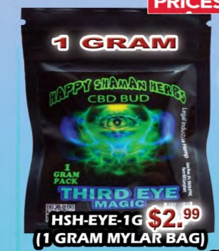 THIRD EYE MAGIC bud 1 gram MYLAR BAG
