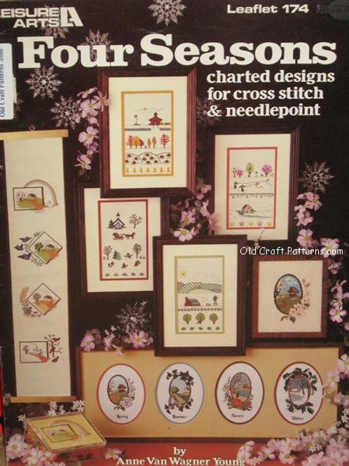 Leisure Arts 174. Four Seasons Charted Designs for Cross Stitch & Needlepoint