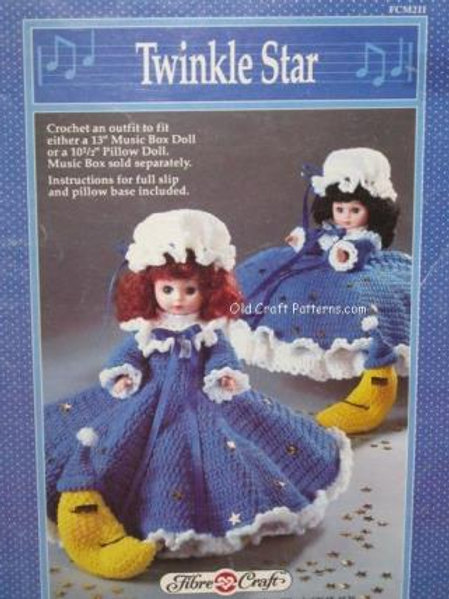 Fibre Craft 211. Twinkle Star Doll Clothes - Crochet Patterns