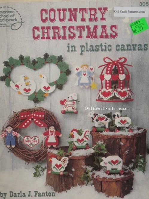 American School 3056. Country Christmas - Plastic Canvas Patterns