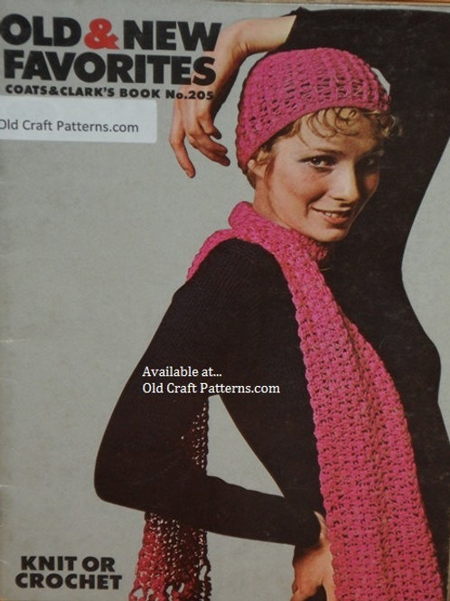 Coats & Clark's 205. Old & New Favorites - Knitting and Crochet Patterns
