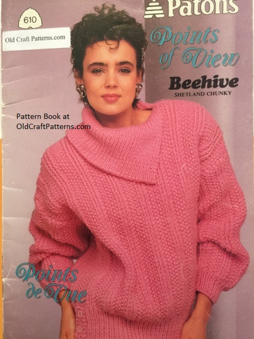 Patons 610. Points of View - Shetland Chunky Sweater Knitting Patterns