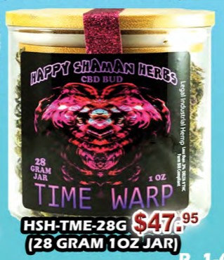 TIME WARP bud 28 gram jar