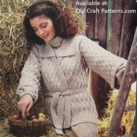 Sirdar 5961. Turtle Neck Sweater with Patterned Cardigan Set - Knitting Patterns