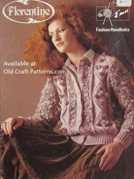 Emu 44. Florentine Fashion Handknits - Sweaters Vests Coat Knitting Patterns