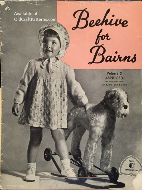 Patons 50 B. Beehive for Bairns - Baby Knitting and Crochet Patterns