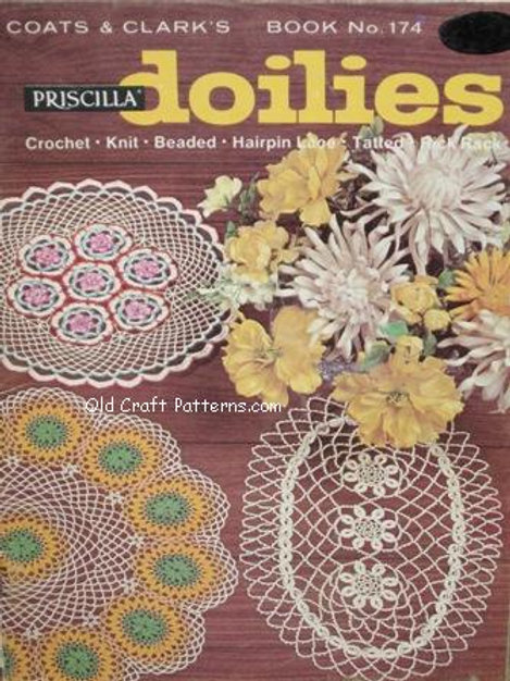 Coats & Clark's 174. Doilies to Crochet Knit Hairpin Tatted Beaded Patterns