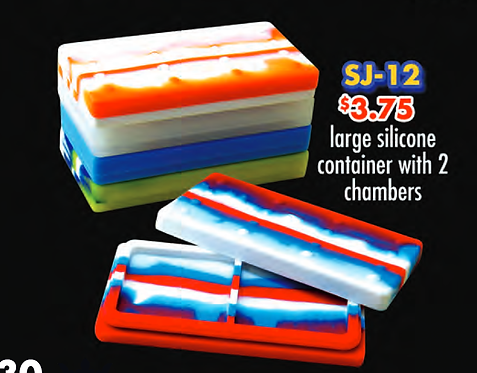 SILICONE CONTAINER large with chambers