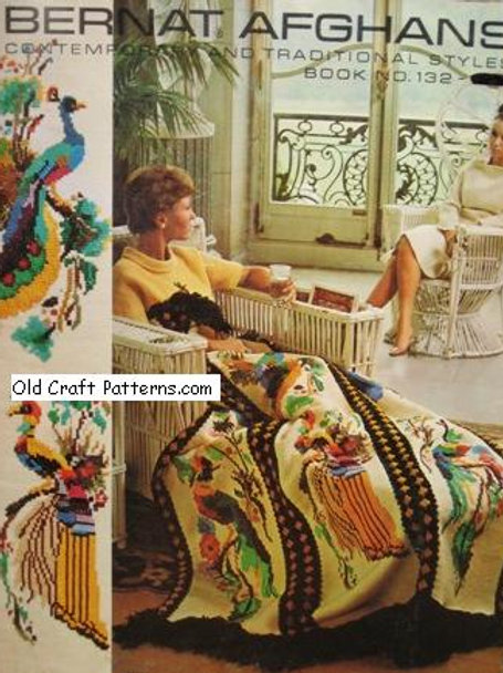 Bernat 132 Afghans Crochet and Knitting Patterns