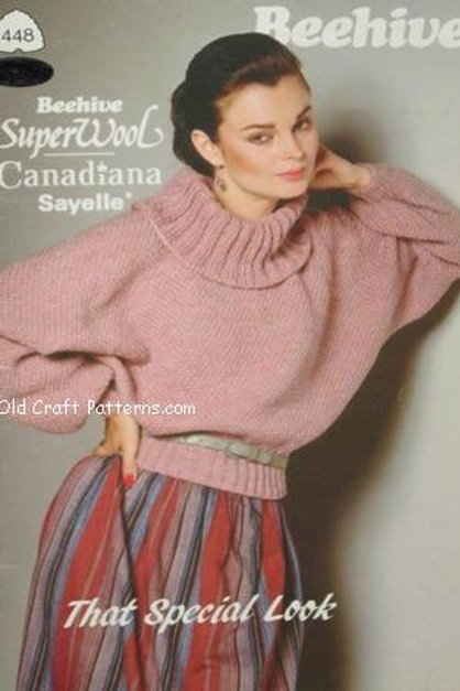 Patons 448. That Special Look - Ladys Sweaters Knitting Patterns & Mens Pullover