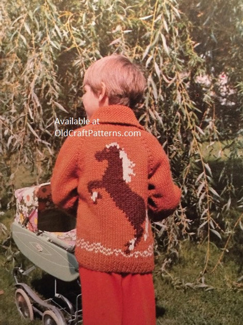 Bouquet 384. Pony Sweater Childrens Knitting Pattern