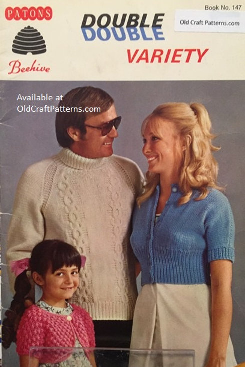 Patons 147. Double Double Variety - Knitting and Crochet Patterns