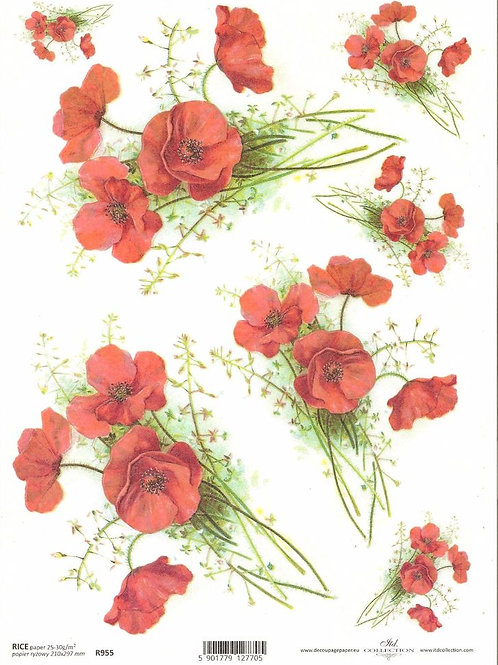 Poppies - Rice Paper