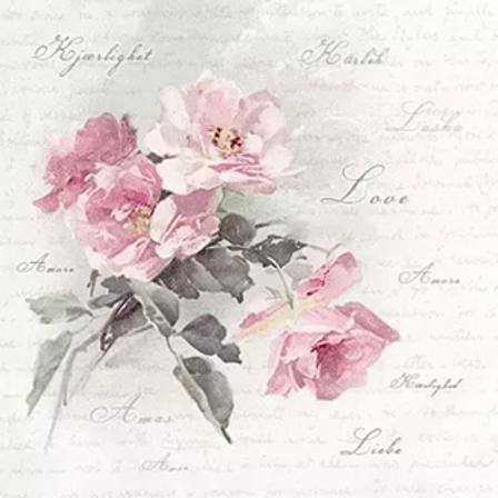 Wild Rose - Decoupage Napkin