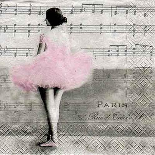 Ballet Girl - Decoupage Napkin