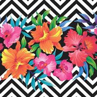Tropical Flowers - Decoupage Napkin