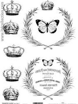 Butterflies & Crown - Image Transfer Paper