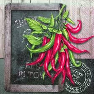 Fresh Chilli - Decoupage Napkin