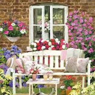 The Garden Bench - Decoupage Napkin