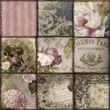 Vintage Collage - Decoupage Napkin