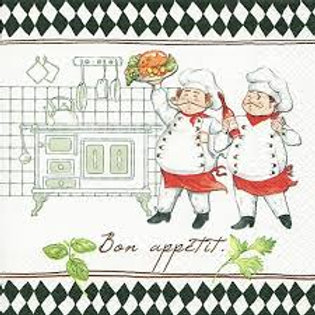 Jacques And Luigi - Decoupage Napkin