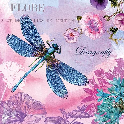 Blue Dragonfly - Decoupage Napkin