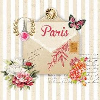 Letter De Paris - Decoupage Napkin
