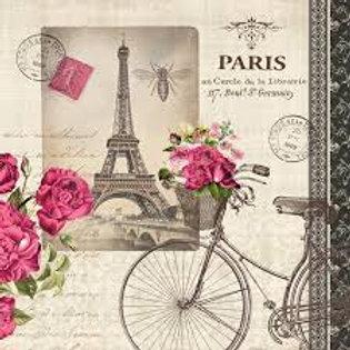 Velo Parisien - Decoupage Napkin