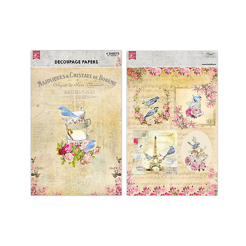 Birdie Tale Decoupage Paper -Little Birdie