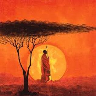 African Sunset - Decoupage Napkin