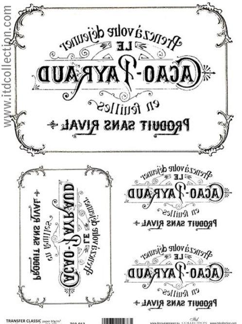 Vintage Labels - Image Transfer Paper