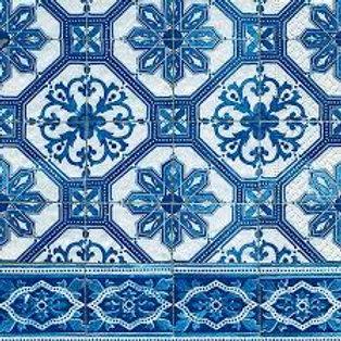 Blue Tiles- Decoupage Napkin