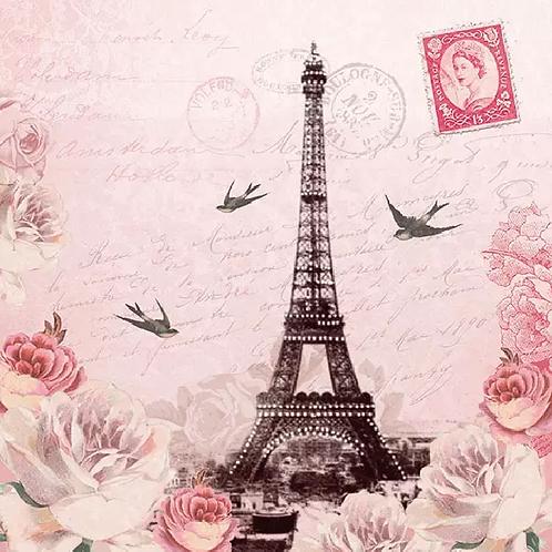 Letter to Paris - Decoupage Napkin