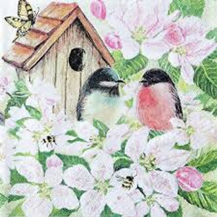 Birds&Blossoms- Decoupage Napkin
