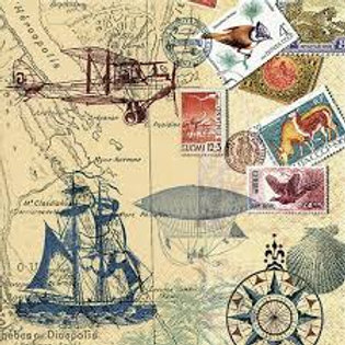 Around The World- Decoupage Napkin