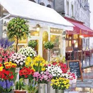 The Flower Shop- Decoupage Napkin