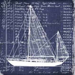 Nautica Cutter - Decoupage Napkin